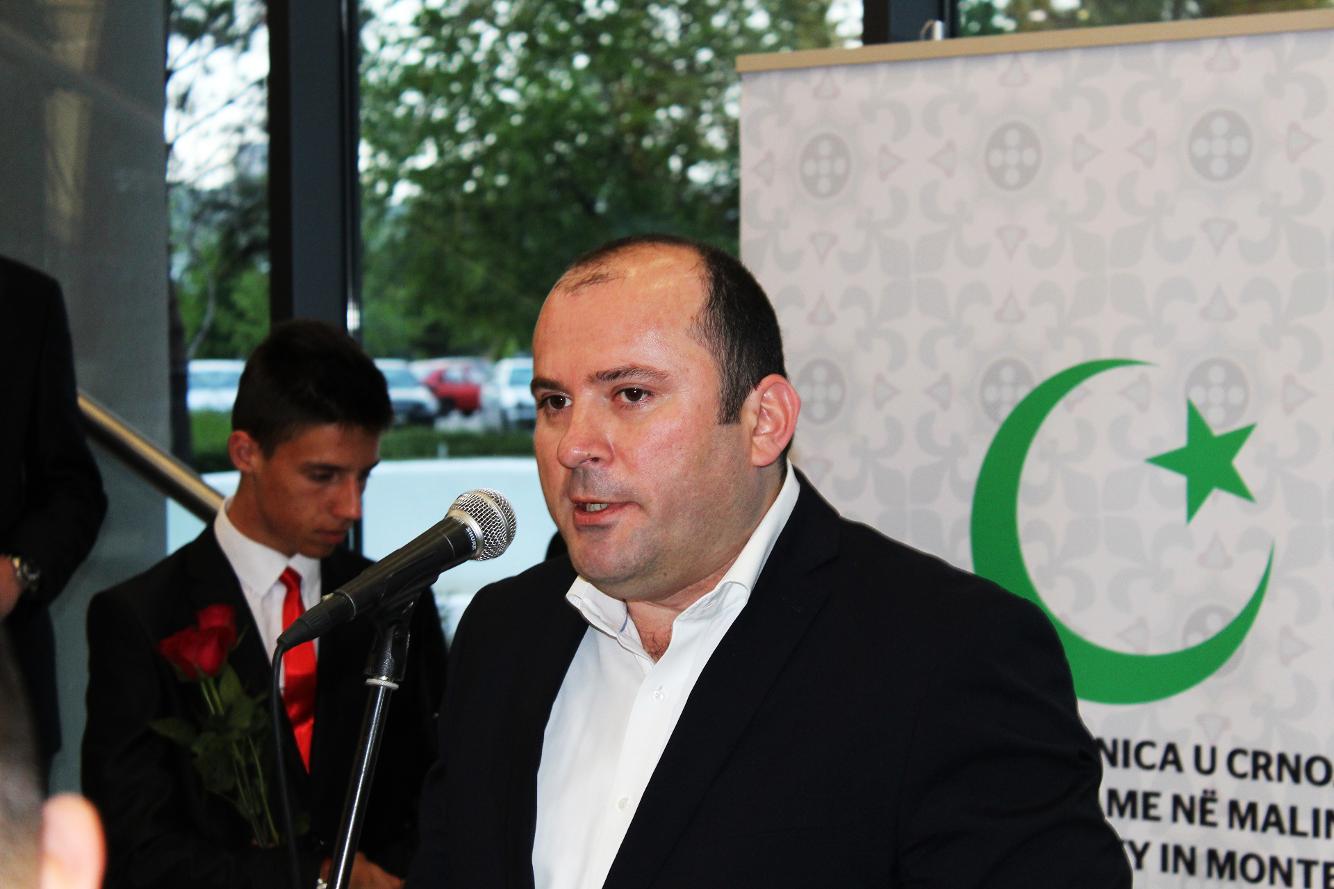 Ministar kulture i obrazovanja Crne Gore gospodin Pavle Goranović prilikom držanja govora na otvorenju Izložbe.